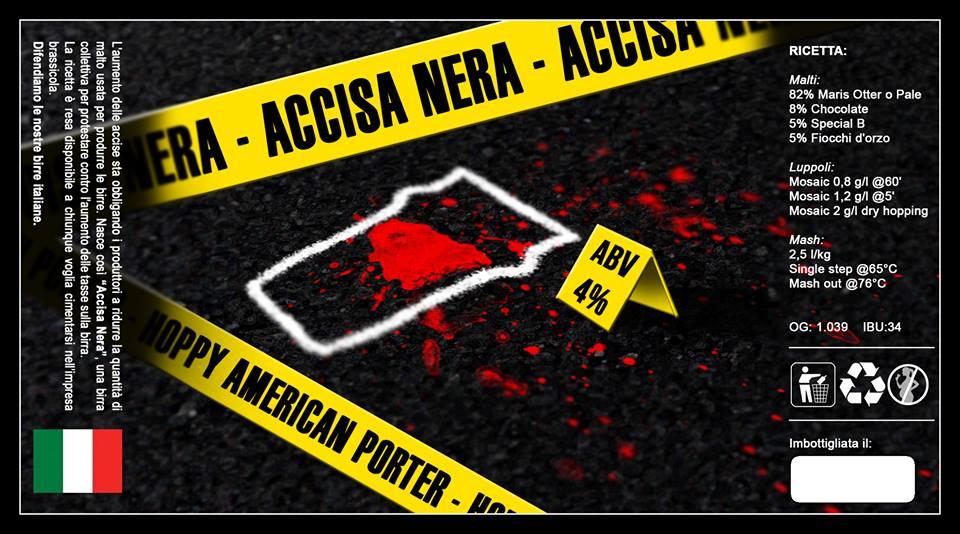 ACCISA NERA: la birra di protesta
