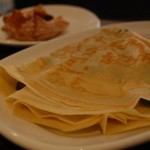 Crêpes alla weizen e spinaci