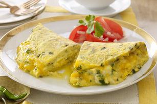 Omelette alla birra e fiori di luppolo