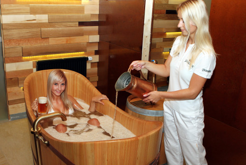 Terme di purkmistr quando la birra fa bene alla salute - Bagno di cioccolato ...