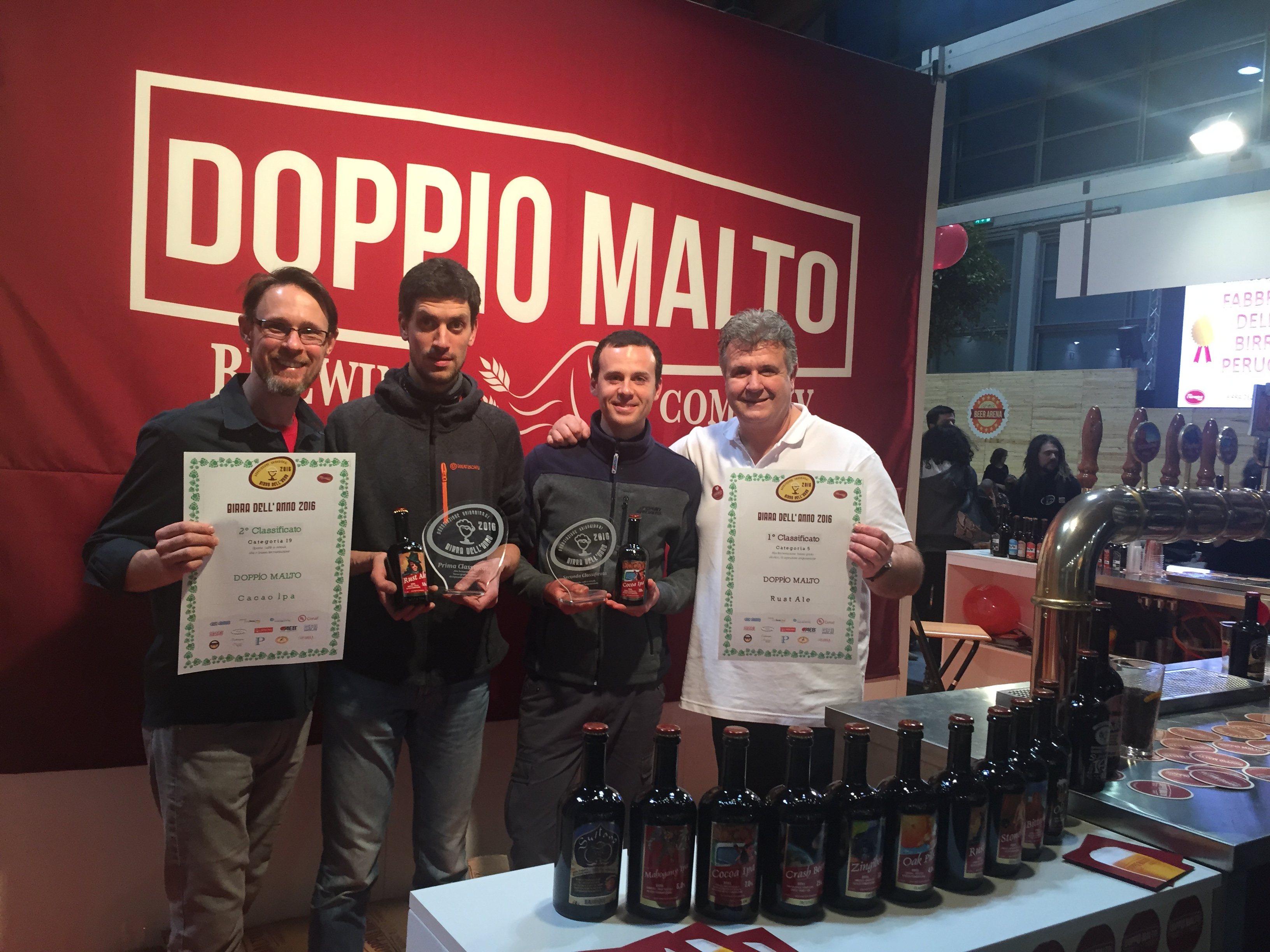 Doppio Malto: dopo le medaglie 5 all'International Beer Challenge, due riconoscimenti al Beer attraction!