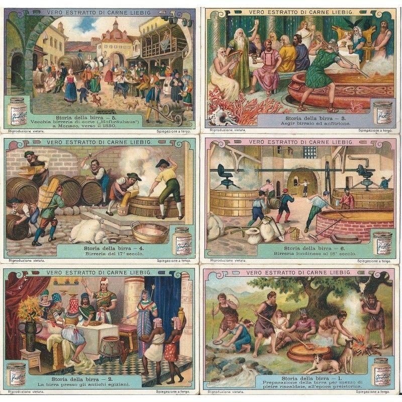 La storia della birra nelle figurine Liebig