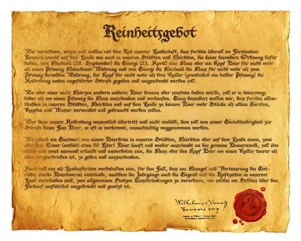 Storia di leggi ed editti sulla birra
