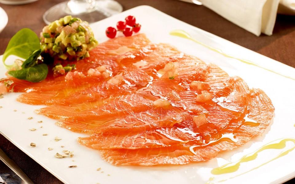 Salmone marinato alla Geuze