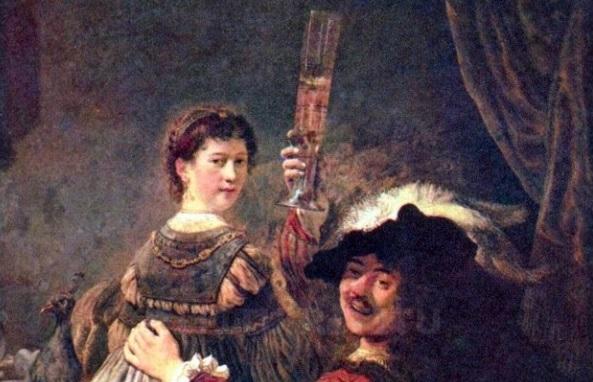 Rembrandt e il celebre autoritratto con il boccale al cielo