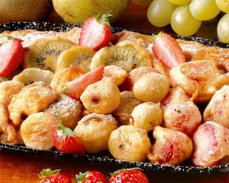 Fritto misto dolce di frutta