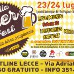 Al via il primo festival pugliese dedicato alla birra artigianale