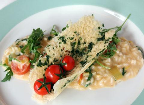 Risotto alla weiss, rucola e pomodorini