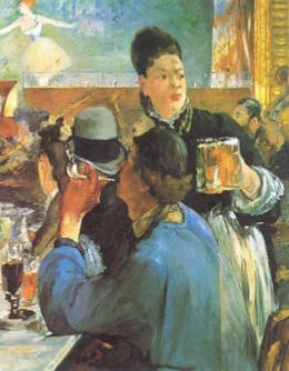 Caffé e bar di Parigi: la birra, secondo Manet