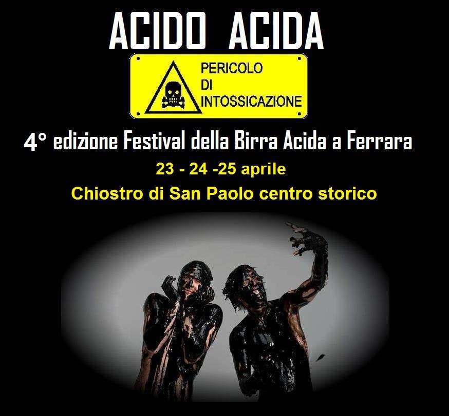"""E chi l'ha detto che il """"sour"""" è solo belga: torna a Ferrara Acido Acida"""