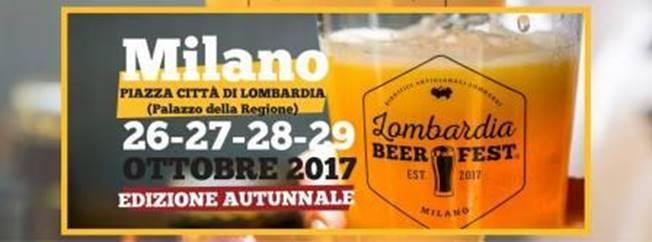 Dal 26 ottobre a Milano torna il Lombardia Beer Fest