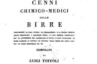 Antichi libri italiani: Cenni chimico-medici sulle Birre, 1825