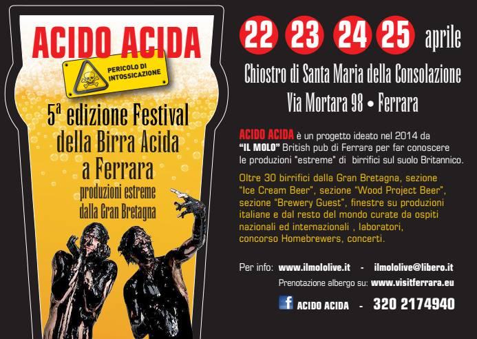AcidoAcida: tutto pronto per la quinta edizione!