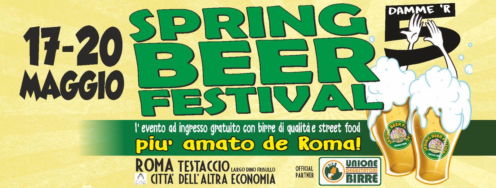 Al via domani a Roma la 5° edizione del Spring Beer Festival 2018