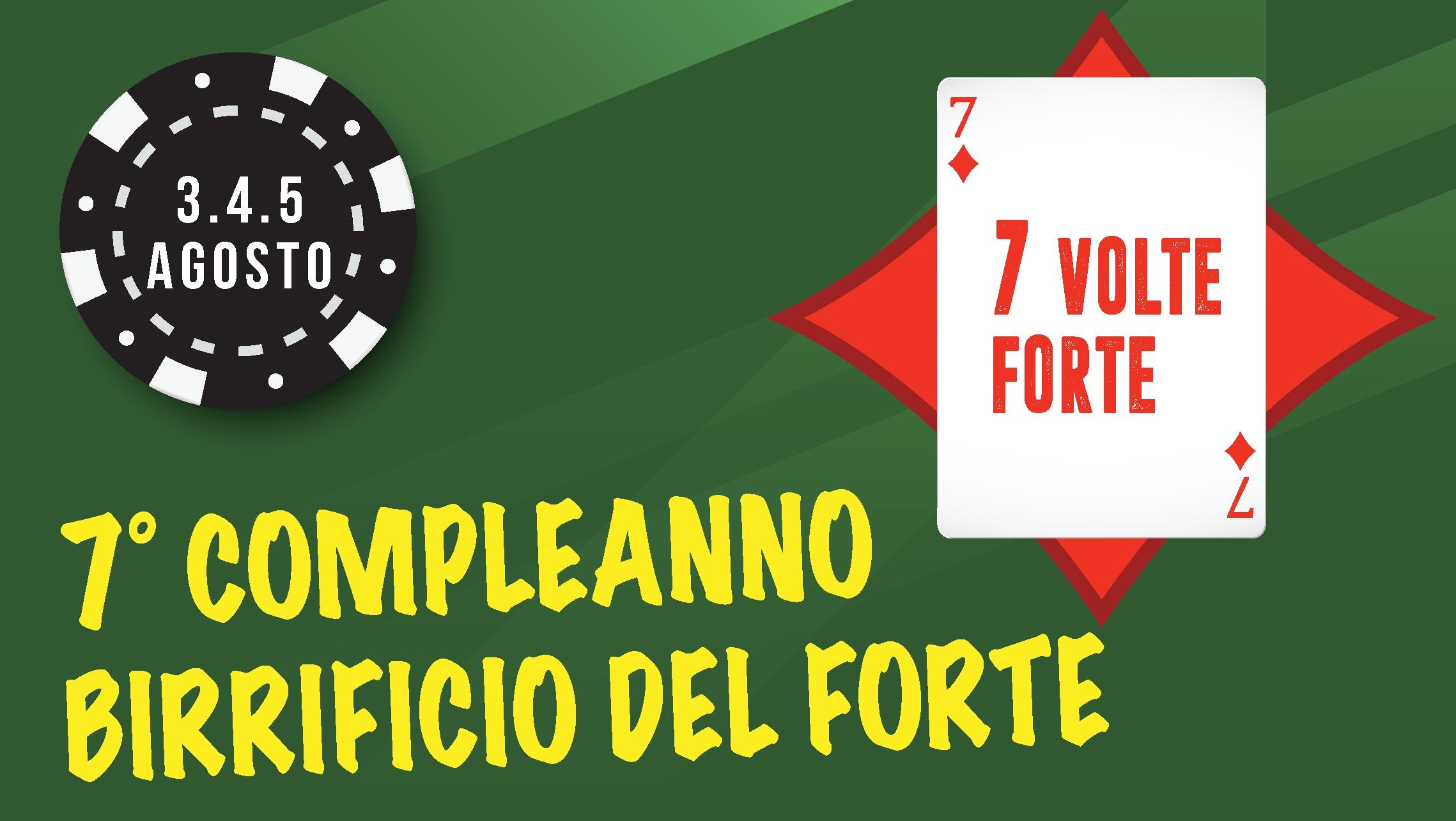 7 VOLTE FORTE: la festa di compleanno del Birricio del Forte!