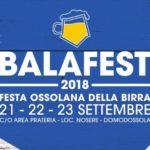 Balafest 2018: tutto pronto per  la terza edizione della  Festa ossolana della birra