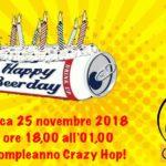 Il 25 novembre tutti a Baggio per i tre anni di Crazy Hop!