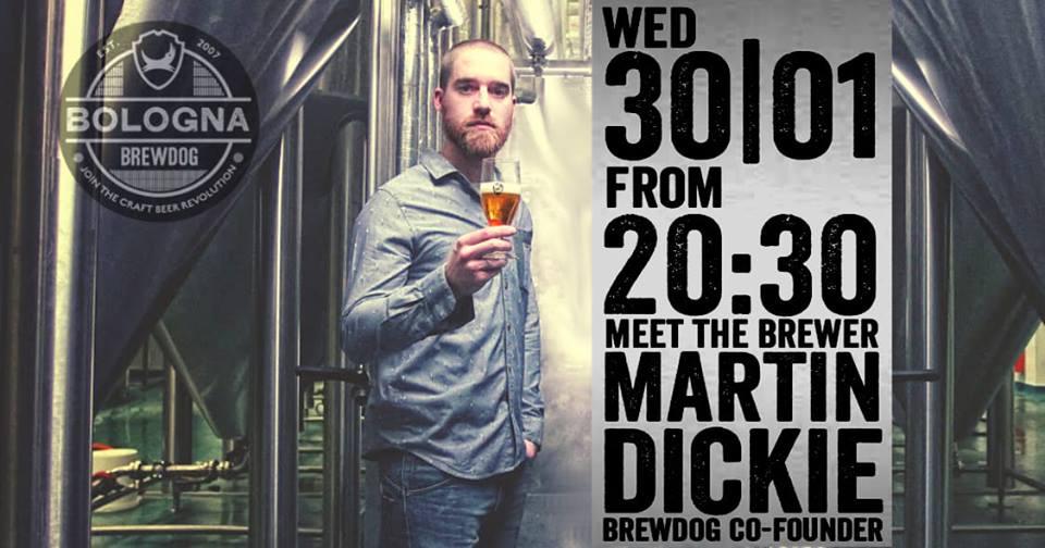 Il 30 gennaio al BrewDog Bar di Bologna arriva Martin Dickie!