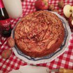 Torta di mele e noci con la Kriek Lambic