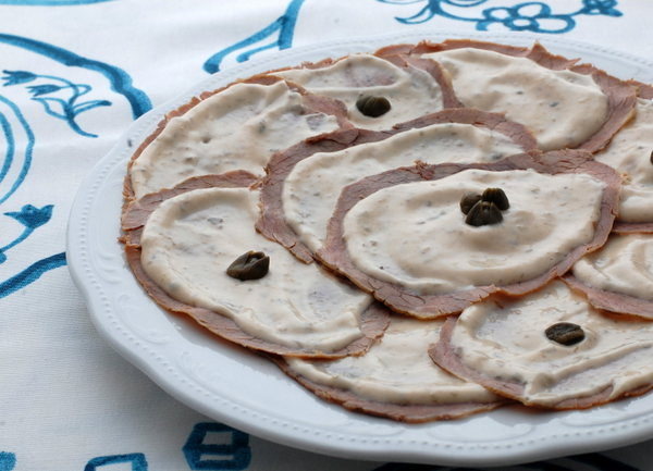 Vitello tonnato abbirrato