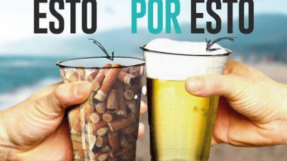 Barcellona: un boccale di buona birra, per un bicchiere di sporcizia in meno sulla spiaggia!