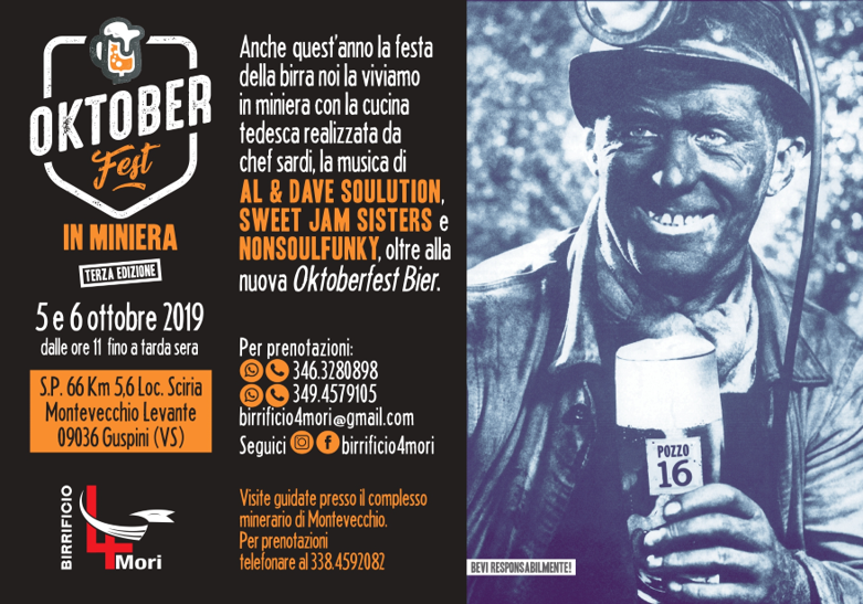 Stasera e domani, Oktoberfest in Miniera 2019 a Montevecchio