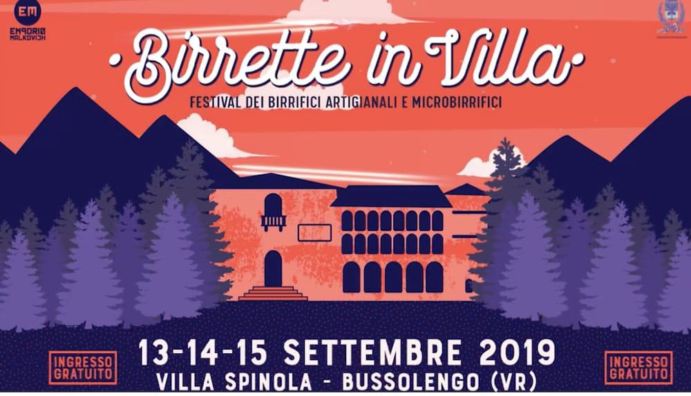 Torna nel fine settimana Birrette in Villa!