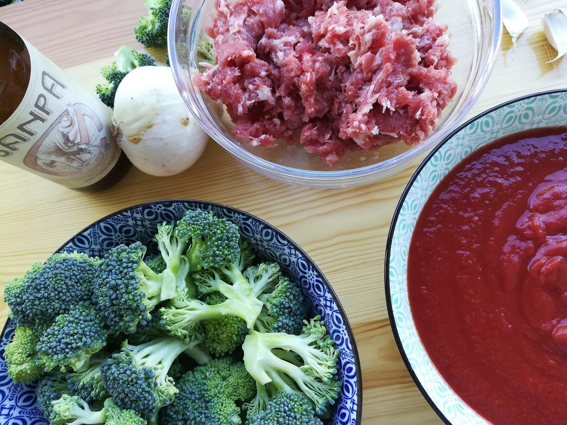 Le lasagne con broccoli e salsiccia alla birra contadina Sanpa®
