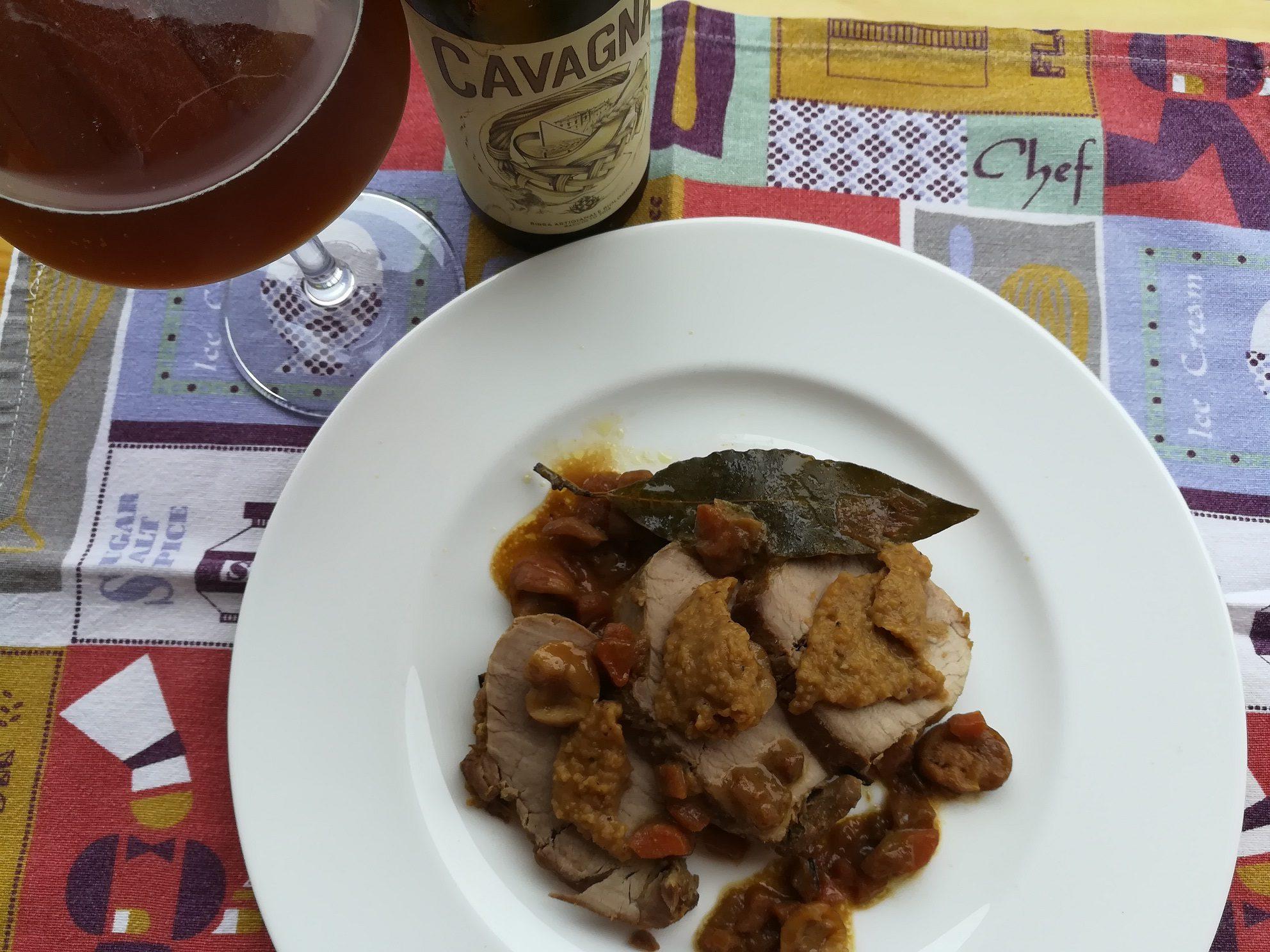 Filetto di maiale alle castagne e birra contadina Cavagna®
