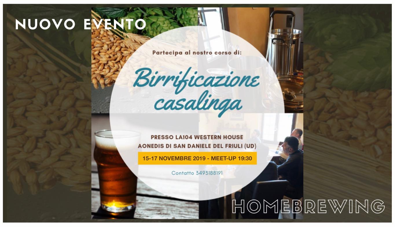 A San Daniele del Friuli  corso per Homebrewers!