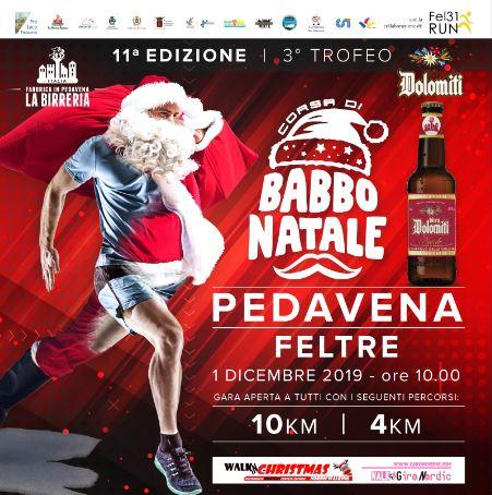 Torna la corsa di Babbo Natale per il Trofeo Birra Dolomiti