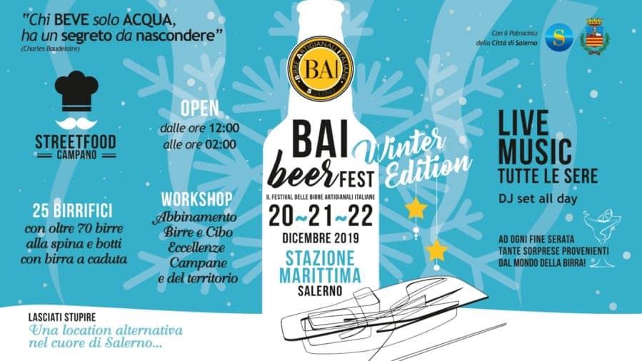 BAI Beer Fest – Winter Edition, dal 20 al 22 dicembre 2019 a Salerno