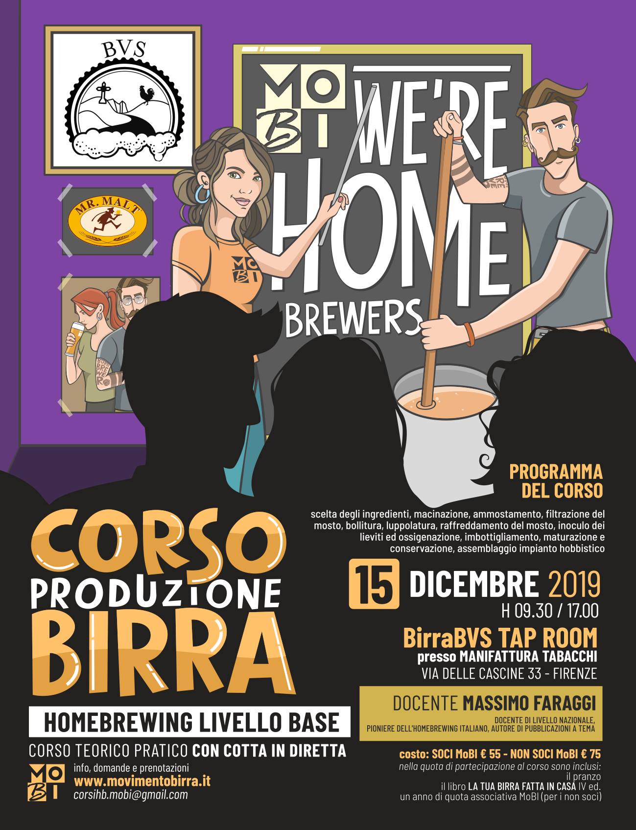 Domani a  Firenze il Corso Homebrewing Livello Base del MOBI
