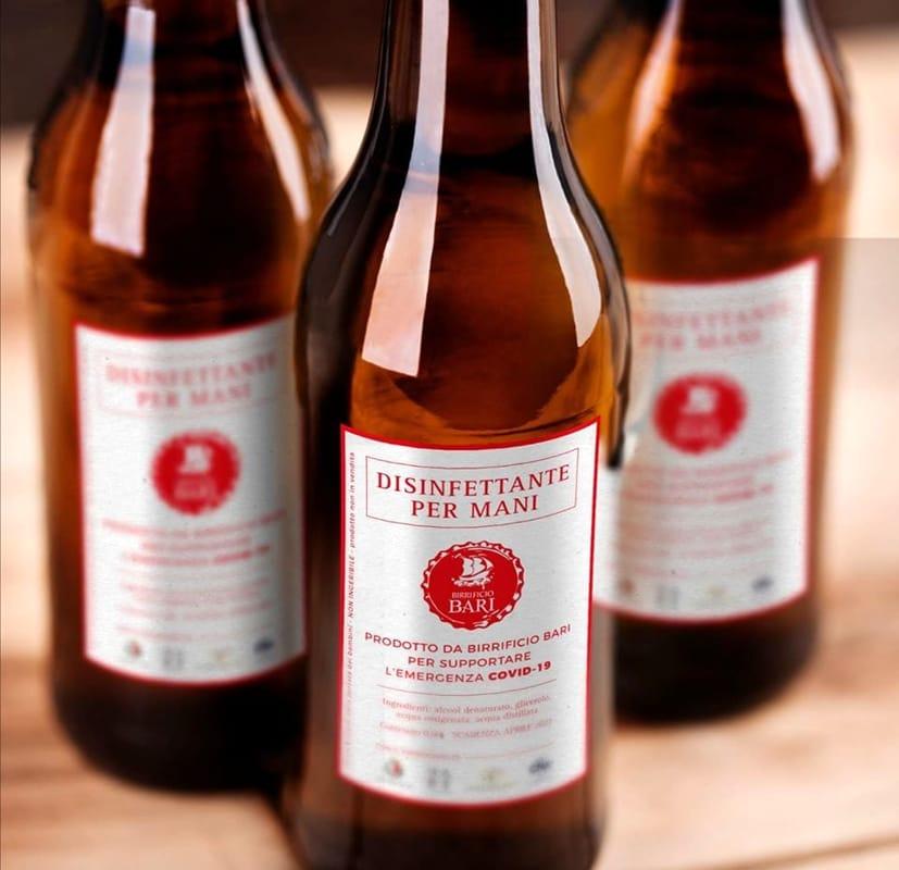 Dalla birra al disinfettante per le mani: Birrificio Bari riconverte temporaneamente la produzione
