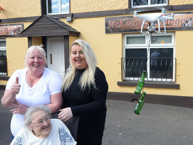 Delivery: in Irlanda la birra arriva con il drone