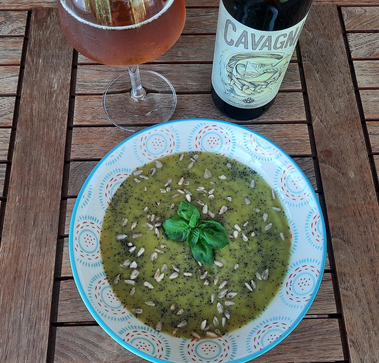Vellutata di zucchine dell'orto e birra Cavagna®(bio)