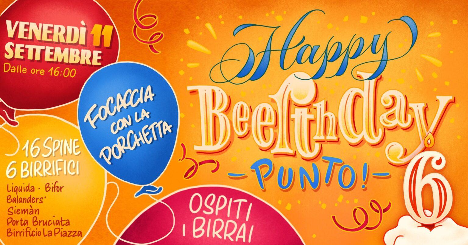 Domani festa Happy Beerthday Punto!