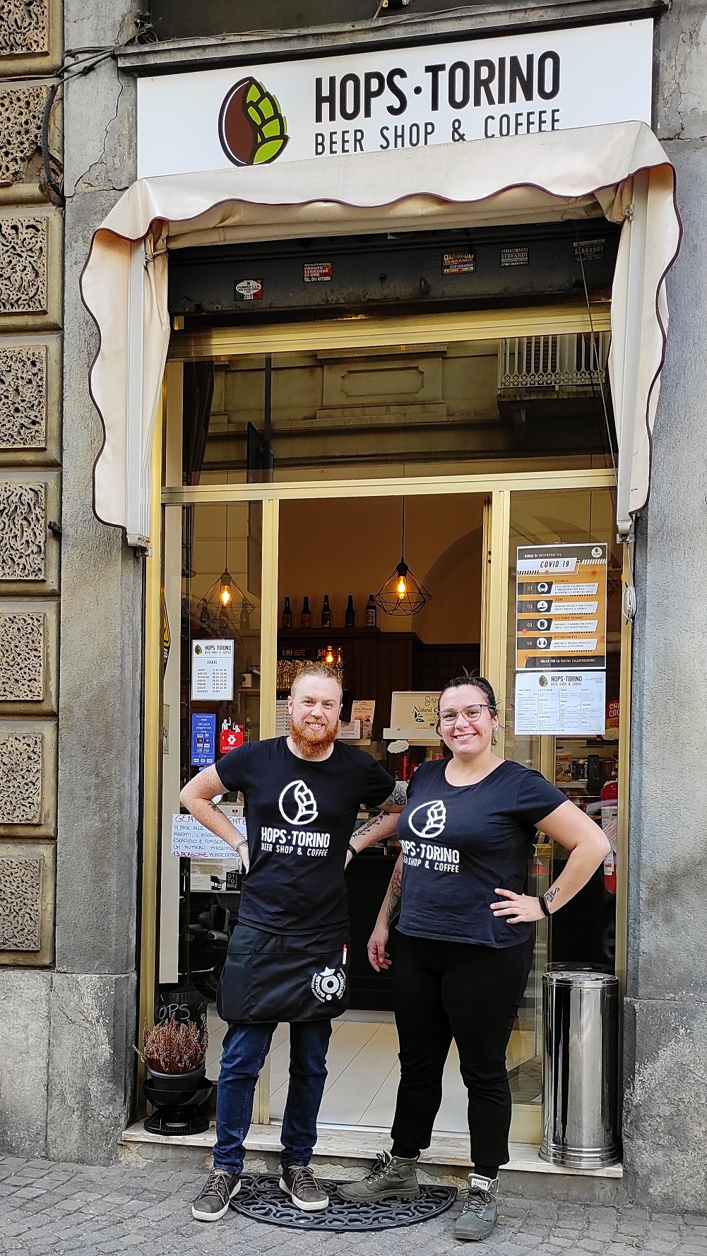 Hops Torino beer shop: save water and drink beer!
