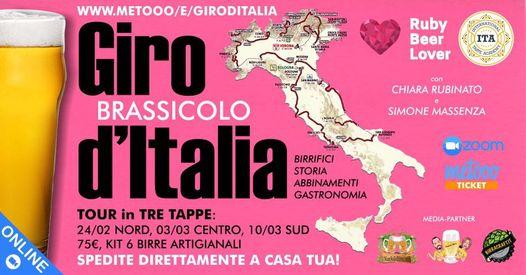 GIRO BRASSICOLO D'ITALIA: tour virtuale in tre tappe!