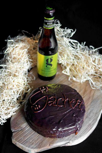 Sacher veg & beer alla Gold Dry-Hopped Lager