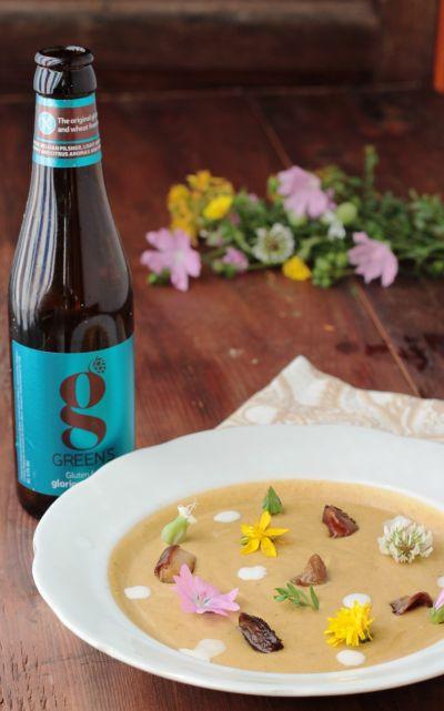 Crema di funghi porcini alla birra GREEN'S PILSNER