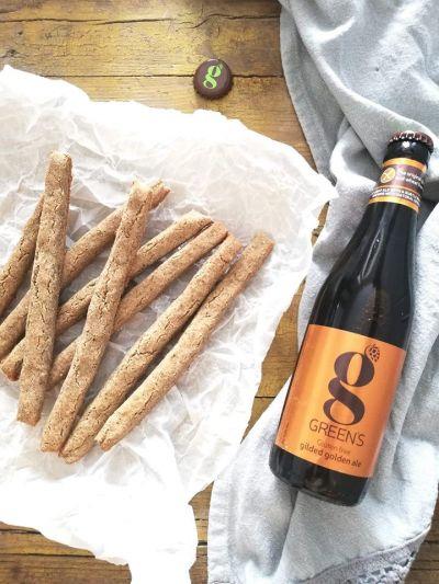 """Bastoncini di grano saraceno con birra Green's """"Gilded Golden Ale"""""""