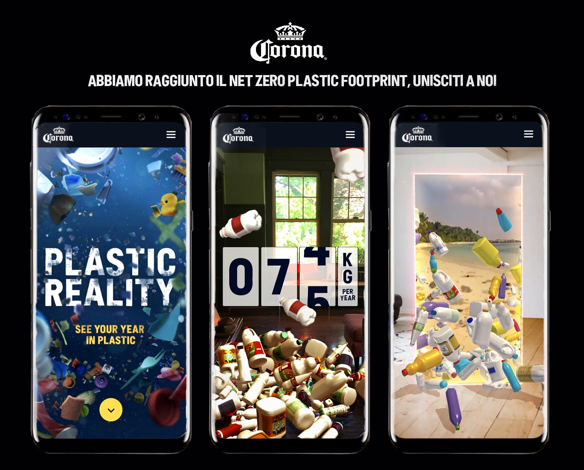 """CORONA è il primo brand beverage al mondo a raggiungere il """"net zero plastic footprint"""""""