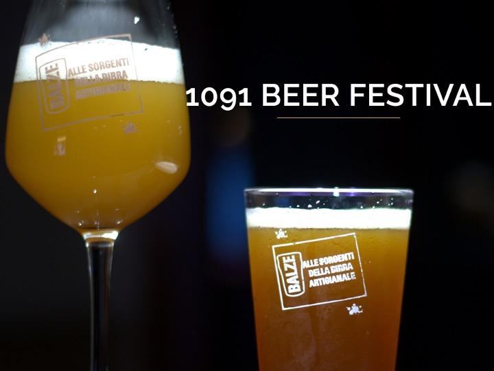 1091 BEER FESTIVAL: alle sorgenti della birra artigianale!